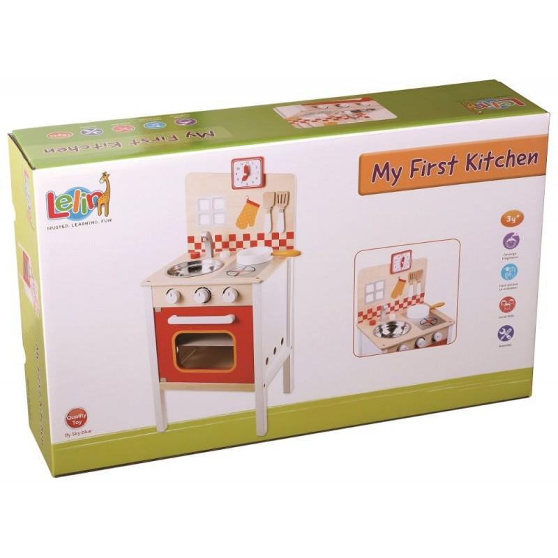 Kuchnia optymalna  drewniana kuchenka dla dzieci