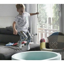Suchy basen z piłeczkami 90x30 okrągły - miętowy