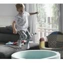 Suchy basen dla dzieci z piłeczkami 90x30 okrągły - miętowy