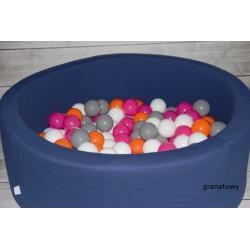 Suchy basen dla dzieci z piłeczkami 90x40 okrągły - granatowy
