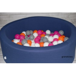 Suchy basen z piłeczkami 90x40 okrągły - granatowy