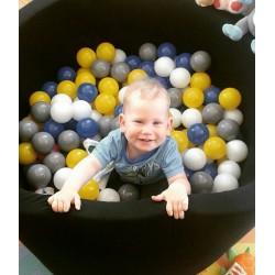 Suchy basen dla dzieci z piłeczkami 90x40 okrągły - czarny