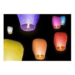 LATAJĄCE LAMPIONY SZCZĘŚCIA XXL 2 kolory 10 sztuk!