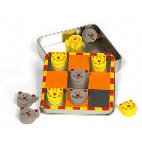 Kółko i Krzyżyk gra magnetyczna kotki i myszki HIT