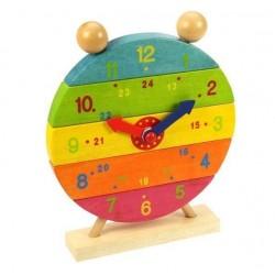 Zegar do nauki godzin układanka pionowa kolorowy zegar do nauki