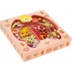 Pudełko z biżuterią, koraliki do nawlekania - Wróżki