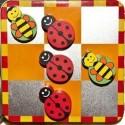Kółko i krzyżyk gra magnetyczna Biedronki i pszczółki