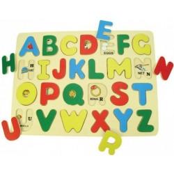 Drewniane puzzle alfabet ABC BIGJIGS