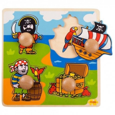Puzzle dla najmłodszych układanka z uchwytami Piraci