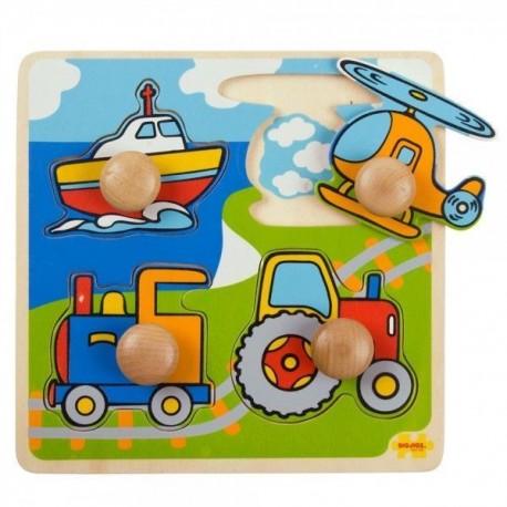 Puzzle układanka z uchwytami dla najmłodszychTransport