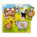 Puzzle dla najmłodszych układanka z uchwytami Farma