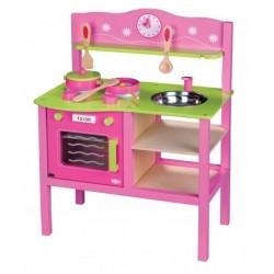 Moja pierwsza drewniana kuchnia dla dziecka + akcesoria
