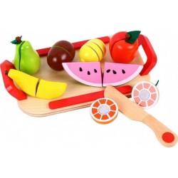Zestaw - drewniane owoce do krojenia