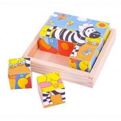 Puzzle kostki obrazkowe Safari