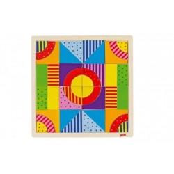GOKI Kolorowa drewniana układanka mozaika