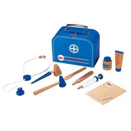 Zestaw lekarza doktor w walizce niebieski