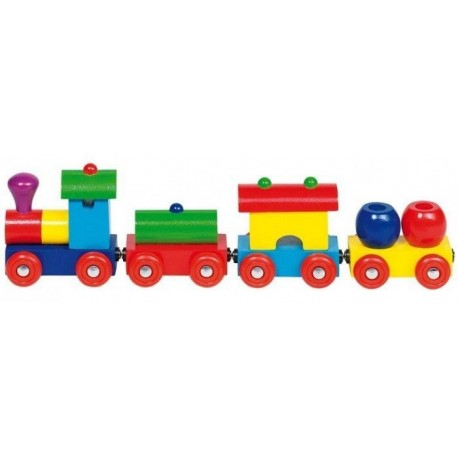 GOKI kolorowy pociąg Peru wagoniki na magnesy
