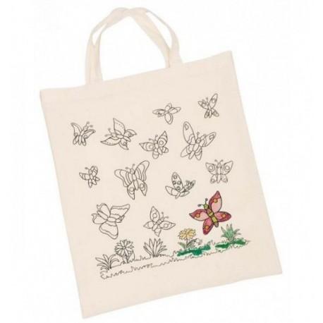 GOKI Torba do samodzielnego pokolorowania Motylki