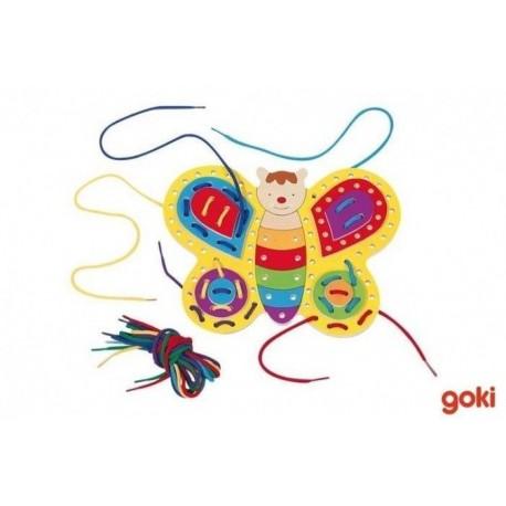 Goki nawlekanka-sznurowanka Motylek