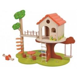 Domek na drzewie - śliczny drewniany