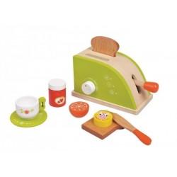 Toster zielony - zestaw śniadaniowy
