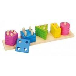 Goki układanka kształty i kolory