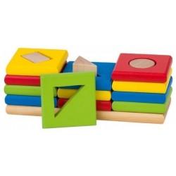 Układanka edukacyjna - sorter 3 kształty