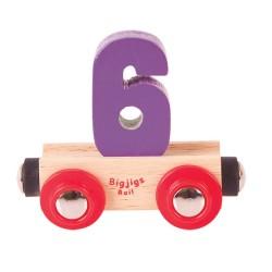 Wagonik cyferka 6
