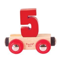 Wagonik cyferka 5