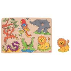 Puzzle dźwiękowe - dzikie zwierzęta
