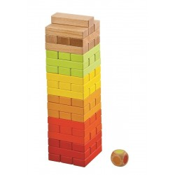 Jenga kolorowa - gra towarzyska