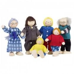 GOKI Rodzinka - drewniane lalki do domku