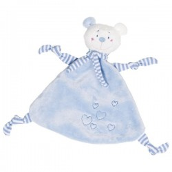 Przytulanka niebieski Miś z serduszkami