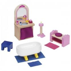 Drewniane mebelki do domku dla lalek meble do łazienki zamkowej