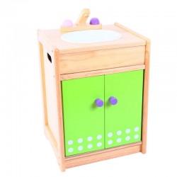 Drewniana szafka ze zlewozmywakiem Nature Premium