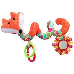 Spirala do wózka - grzechotka Lisek pomarańczowy
