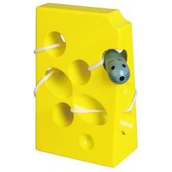 Przeplatanka labirynt - żółty serek dla myszki