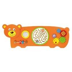 Tablica manipulacyjna sensoryczna dla dzieci - Miś