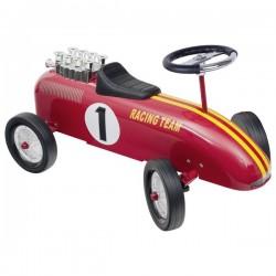 Jeździk metalowy - czerwona wyścigówka retro