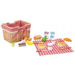Ekskluzywny zestaw piknikowy w wiklinowym koszyku