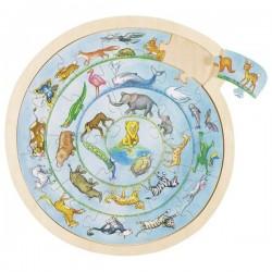 Puzzle okrągłe zwierzęta