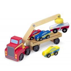 Ciężarówka z podnośnikiem na 4 samochody