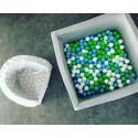 Suchy basen z piłeczkami 90x90x40 kwadratowy - jasnoszary 300 piłeczek