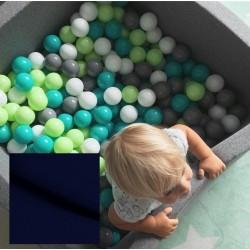 Suchy basen z piłeczkami 90x90x40 kwadratowy - granatowy 300 piłeczek