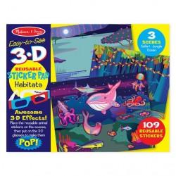 Naklejki kreatywne 3D zwierzęta Melissa & Doug