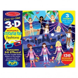 Naklejki kreatywne 3D Fashion Melissa & Doug