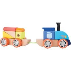 Zestaw klocków konstrukcyjnych pociąg