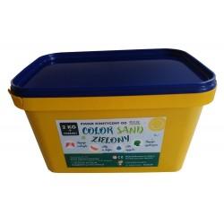 Piasek kinetyczny 2 kg zielony z foremkami - polski piasek