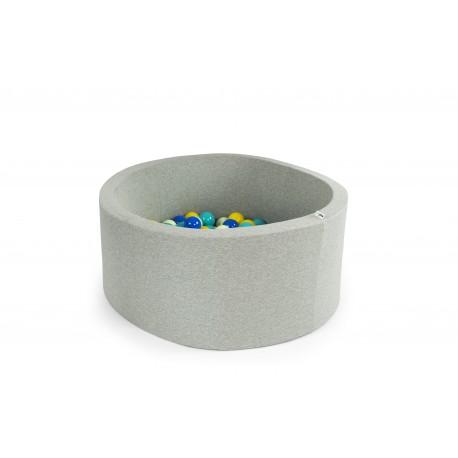 Suchy basen z piłeczkami 90x30 okrągły - szary