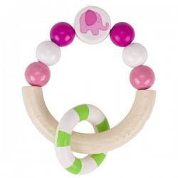 Pierścień dotykowy różowy Słonik